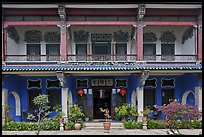 Facade, Cheong Fatt Tze Mansion. George Town, Penang, Malaysia ( color)