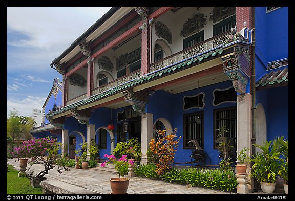 Chinese Courtyard House (Cheong Fatt Tze Mansion). George Town, Penang, Malaysia (color)