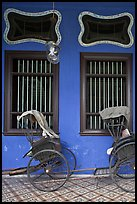 Rickshaws and windows, Cheong Fatt Tze Mansion. George Town, Penang, Malaysia ( color)