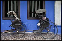 Bicycle rickshaws, Cheong Fatt Tze Mansion. George Town, Penang, Malaysia ( color)