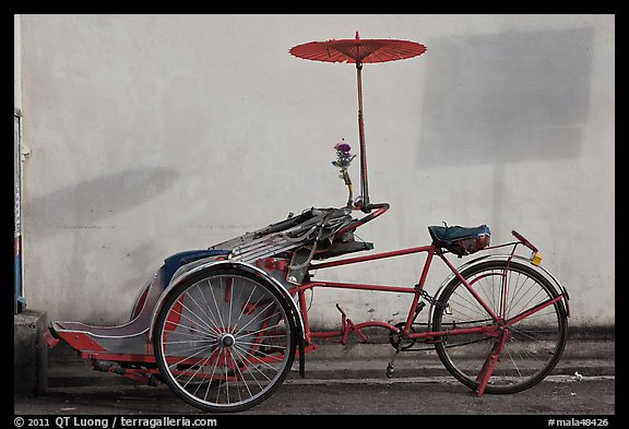 Trishaw. George Town, Penang, Malaysia (color)