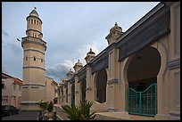 Acheen Street Mosque with Egyptian-style minaret. George Town, Penang, Malaysia ( color)
