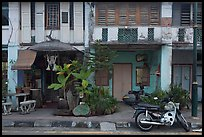 Old townhouse facades. George Town, Penang, Malaysia ( color)