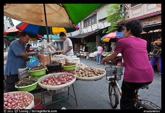 Street market, chinatown. George Town, Penang, Malaysia (color)
