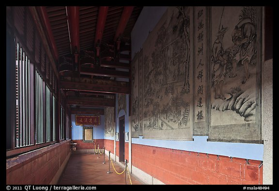 Murals in back gallery, Khoo Kongsi. George Town, Penang, Malaysia (color)