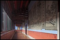 Murals in back gallery, Khoo Kongsi. George Town, Penang, Malaysia ( color)
