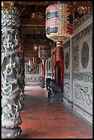 Paper lamps and rich carvings, Khoo Kongsi. George Town, Penang, Malaysia ( color)