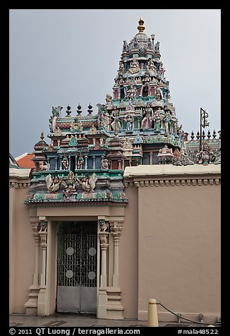 South Indian Sri Mariamman Temple. George Town, Penang, Malaysia (color)