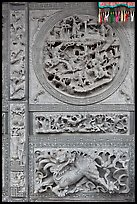 Sone carving motif, Hainan Temple. George Town, Penang, Malaysia ( color)