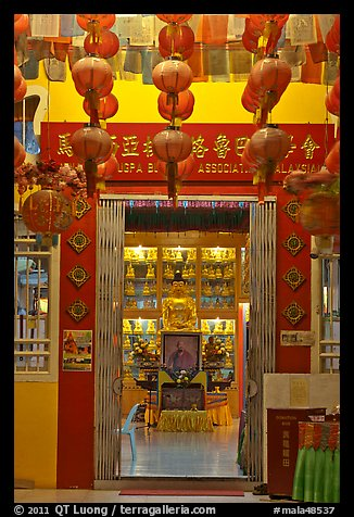 Penang Gelugpa Buddhist Association temple. George Town, Penang, Malaysia (color)