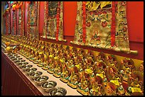 Amulets and Thangkas, Gelugpa Buddhist Association temple. George Town, Penang, Malaysia ( color)