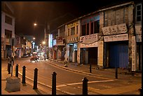 Chinatown street at night. George Town, Penang, Malaysia ( color)