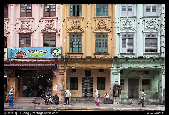 Picture photo row of old shophouses little india kuala for Classic house kl