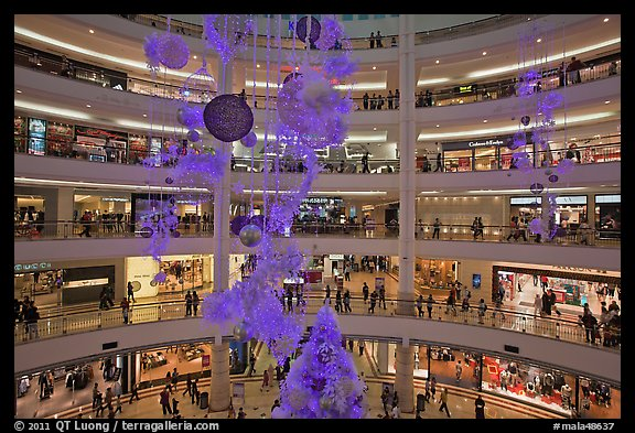 Picture Photo Shopping Mall With Christmas Decor Suria