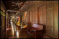Corridor, sultanate palace. Malacca City, Malaysia ( color)