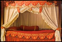 Sultans bed, sultanate palace. Malacca City, Malaysia (color)