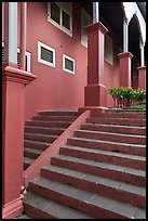 Stairs and columns, Stadthuys. Malacca City, Malaysia (color)