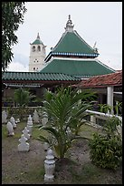 Masjid Kampung Hulu mosque in Javanese style architecture. Malacca City, Malaysia (color)