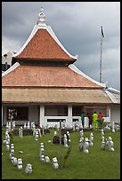 Kampung Kling Mosque with multiered meru roof. Malacca City, Malaysia (color)