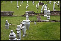 Grave headstones without ornaments, Kampung Kling. Malacca City, Malaysia ( color)