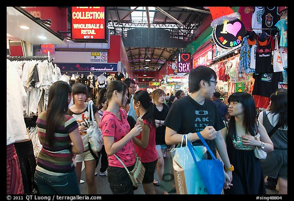 Covered market, Bugis St Market. Singapore (color)
