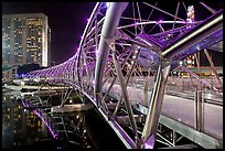 Double Helix Bridge in Marina Bay at night. Singapore ( color)