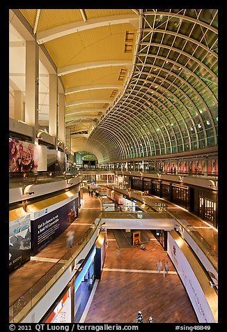 The Shoppes mall, Marina Bay Sands. Singapore (color)