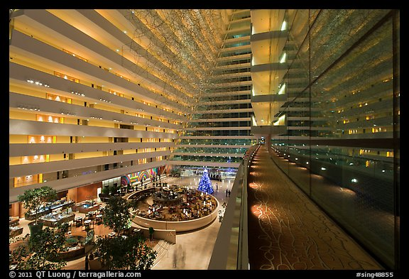 Inside Marina Bay Sands hotel. Singapore (color)
