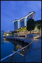 Marina Bay Sands resort, twilight. Singapore (color)