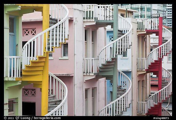 Spiral staircases. Singapore (color)