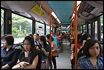 Riding a bus. Singapore ( color)