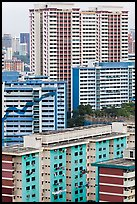 Residential appartment buildings. Singapore (color)