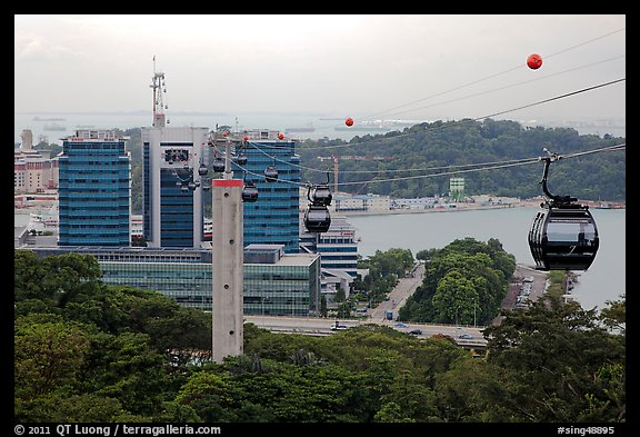 Mount Faber cable car. Singapore
