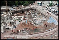 Construction site from above, Sentosa Island. Singapore ( color)
