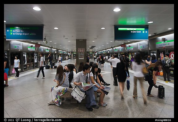 MRT subway train station. Singapore