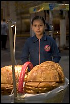 Young street food vendor by night. Guadalajara, Jalisco, Mexico (color)