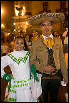 Man and woman in traditional mexican costume. Guadalajara, Jalisco, Mexico (color)