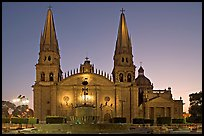 Cathedral at dawn. Guadalajara, Jalisco, Mexico (color)