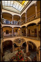 Interior of four-century old Hotel Frances. Guadalajara, Jalisco, Mexico