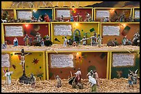 Scenes from the bible illustrated with figurines, Tlaquepaque. Jalisco, Mexico (color)