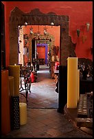 Corridor in art gallery, Tlaquepaque. Jalisco, Mexico