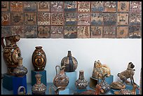 Ceramic pieces and tiles, museo regional de la ceramica de Jalisco, Tlaquepaque. Jalisco, Mexico (color)