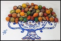 Ceramic fruits, museo regional de la ceramica de Jalisco, Tlaquepaque. Jalisco, Mexico ( color)