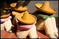 Ceramic statues of men with sombrero hats, Tlaquepaque. Jalisco, Mexico (color)
