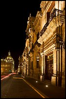 Palacio del Gobernio (government palace) at night. Guadalajara, Jalisco, Mexico