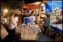 Mobile food vendor and craft night market, Tlaquepaque. Jalisco, Mexico (color)