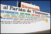 Wall with welcome sign, Tlaquepaque. Jalisco, Mexico (color)