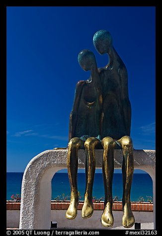 Sculpture called Nostalgia on the waterfront, Puerto Vallarta, Jalisco. Jalisco, Mexico (color)