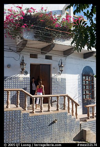 Women at the door of a house, Puerto Vallarta, Jalisco. Jalisco, Mexico (color)