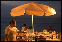 Food vendor on the Malecon at night, Puerto Vallarta, Jalisco. Jalisco, Mexico ( color)